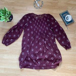 Maroon flowy Abercrombie & Fitch dress